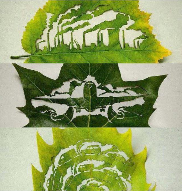 cut leaf art