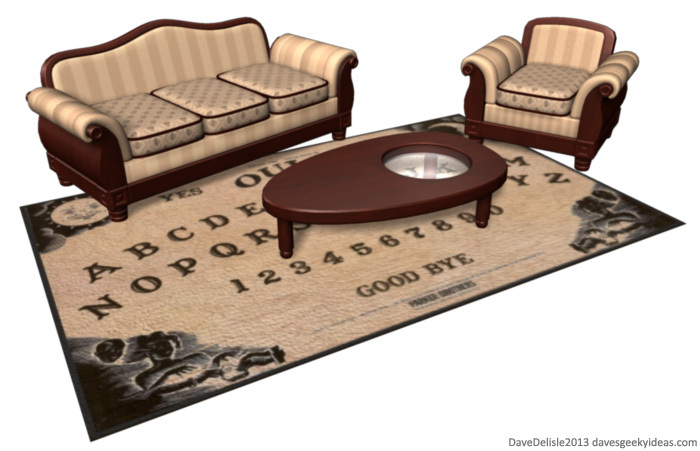 Ouija Board Coffee Table And Carpet Concept
